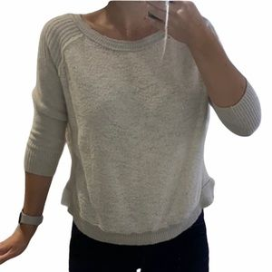 Free People Two Toned Wool Scoop Neck Sweater